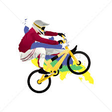 Bmx Cyclist In Action Vector Image
