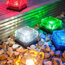 solar blocks buried lights led l glass floor tile l