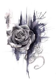 Rose Drawing Print By Lucky978