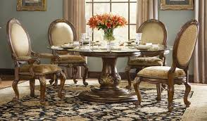 Best Formal Dining Room Furniture With Round Table And Flower Centerpiece