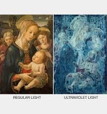 Woods Lamp Examination Images by Ultraviolet Light Examination With Museu Nacional D U0027art De