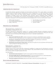 Sample Executive Assistant Resume Objective Senior Administrative By Profession Admin