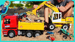 100 Bruder Trucks Youtube Excavator Videos For Children Digging With And