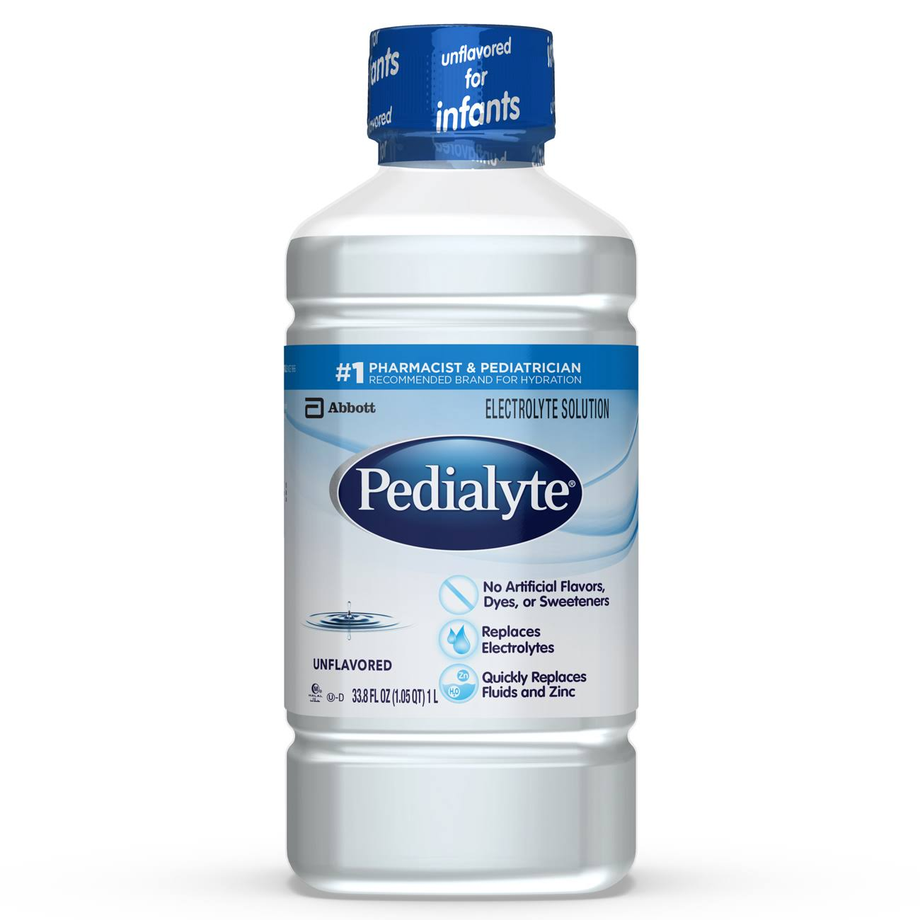 Pedialyte Oral Electrolyte Maintenance Solution - Unflavored, 1L