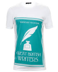 burberry prorsum great british writers t shirt in white for men lyst