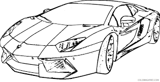 Lamborghini Aventador Coloring Pages Front View Coloring4free