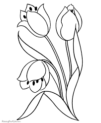 Preschool Coloring Pages Flowers