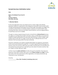 Solicitation Letters