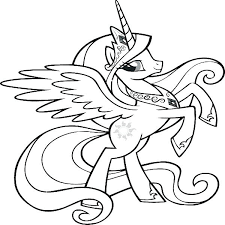 My Little Pony Coloring Pages Rainbow Dash And Unicorn
