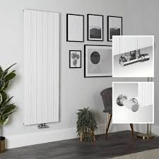 aluminium design heizkörper vertikal weiß 1600mm x 565mm 1833w