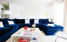 White And Blue Color Combination For Floor Rug Living Room Furniture