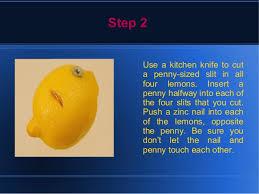 lemon powered light bulb