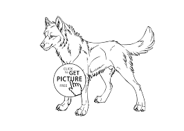 Wolf Wild Animals Coloring Pages For Kids Printable Free At