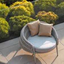 Partlow Round Patio Chair With Cushions