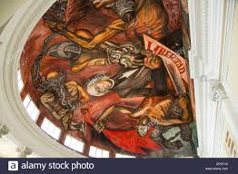 josé clemente orozco mural of hildago signing degree to end