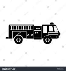 100 Black Fire Truck White Stock Vector Royalty Free 760673911