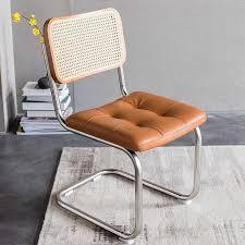 nordic retro rattan stühle hause rückenlehne armlehne schmiedeeisen massivholz esszimmer stuhl wohnzimmer möbel sessel