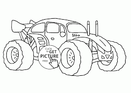 Little Monster Truck Coloring Page For Kids, Transportation Coloring ...