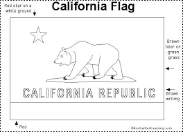California State Flag Coloring Page Pages Online By Number