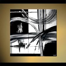 Buy Black And White Abstract Painting Decor 4604