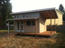 slant roof style custom built shed storage mother in law home