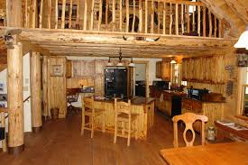 Rustic Style Kitchen Cabinets Interesting With Office And Island Of Stunning Two Story Log Home