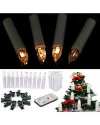 10Pcs Wireless Church Christmas Tree Battery LED Candle Light Remote Control Gift