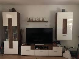 wohnzimmer schrank wohnwand in weiß eiche
