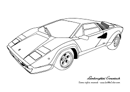 Cars Lamborghini Countach Coloring Pages For Kids Printable