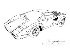 Free Coloring Page Lamborghini Countach
