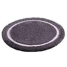 badteppich badvorleger badematte anthrazit grau weiß ultraweich 75cm rund