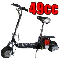 49cc Dirt Dog 2 Stroke Gas Scooter Moped