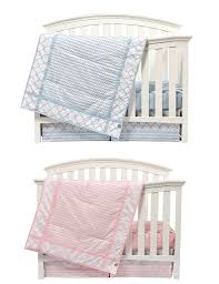 Pink and Blue Nursery Bedding Sets for Twins Sky Pattern
