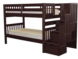 bunk beds twin stairway cappuccino 649 bunk bed king