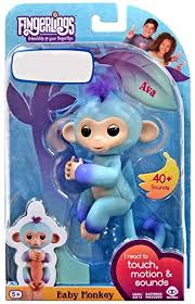 WowWee Fingerlings Interactive Baby Monkey Puppet AVA 2 Tone Blue To Purple