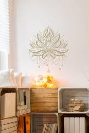 wandtattoo lotusblume mit ketten gold mandala lotus unser