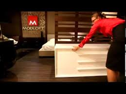 modloft jane dresser opening closing drawer youtube