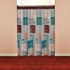 Navy Blue Chevron Curtains Walmart by Brown Shower Curtains