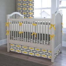 Nursery Beddings Sweet Jojo Gray And Yellow Crib Bedding
