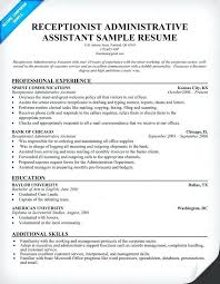 Resume Samples Administrative Assistant Example For