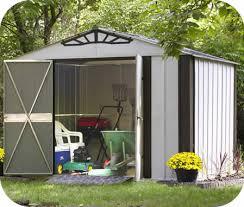 arrow galvanized steel storage shed 10x8 arrow 10x8 designer series steel shed kit ds108