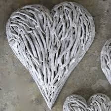 White Washed Driftwood Hearts Designed By Karen Miller