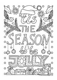 Tis The Season To Be Jolly Colouring Page