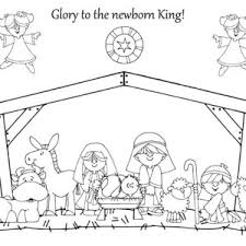 Nativity Glory To The Newborn King In Coloring Page
