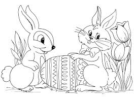 Great Easter Bunny Coloring Page 84 For Pages Online With