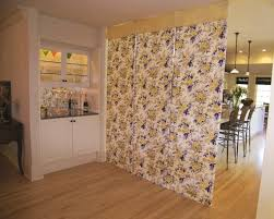 yellow and blue floral coordinating linen room dividers blue