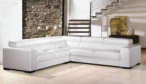 canapé d angle convertible italien canapé angle en cuir vachette blanc