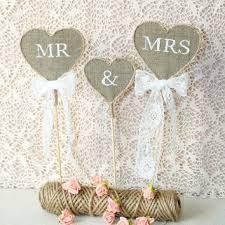 Rustic Wedding Cake Topper Mr Mrs