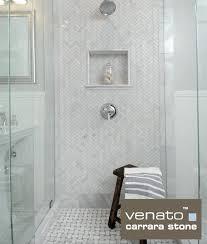 venato marble shower with 1纓3 herringbone and basketweave the