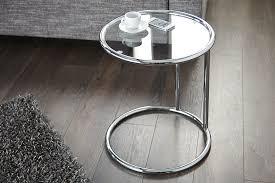 design beistelltisch chrom glasplatte riess ambiente de